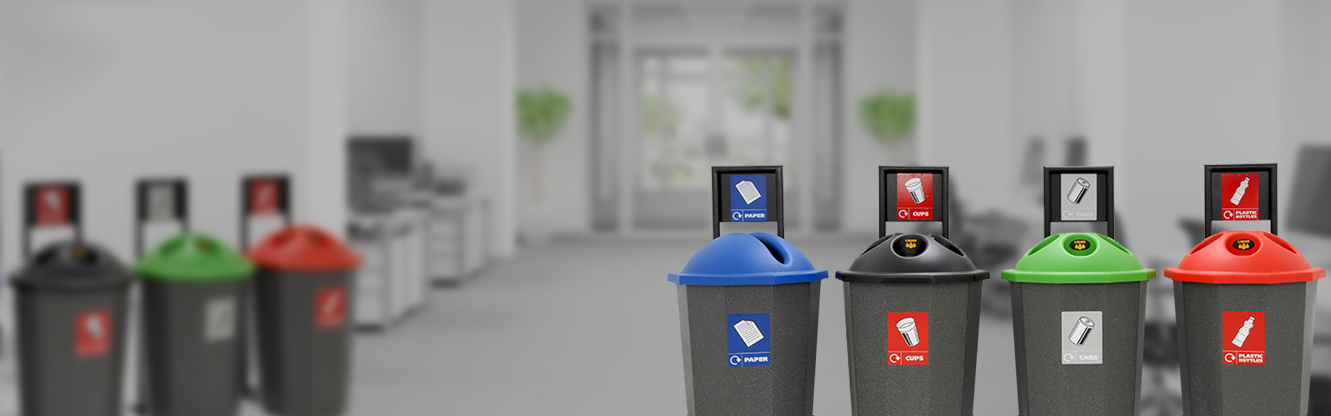 Office Recycling Bins at Beca-Bin